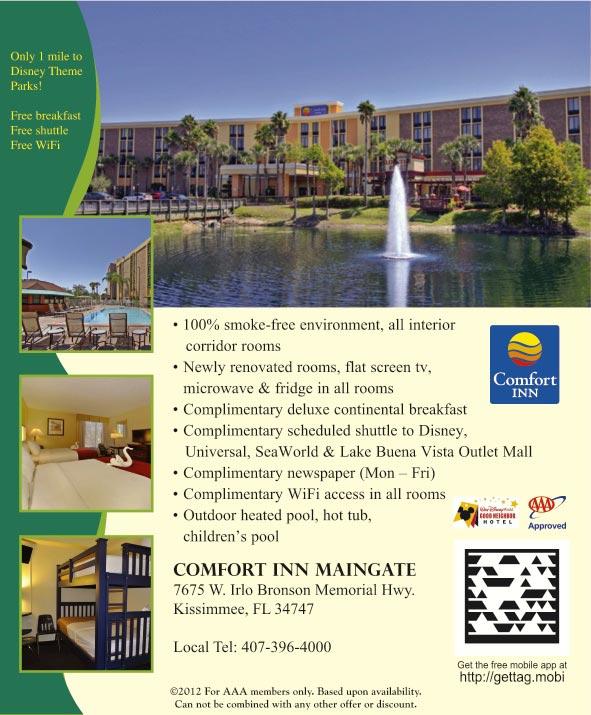 Beautiful Comfort Inn Maingate  Kissimmee FL  AAAcom