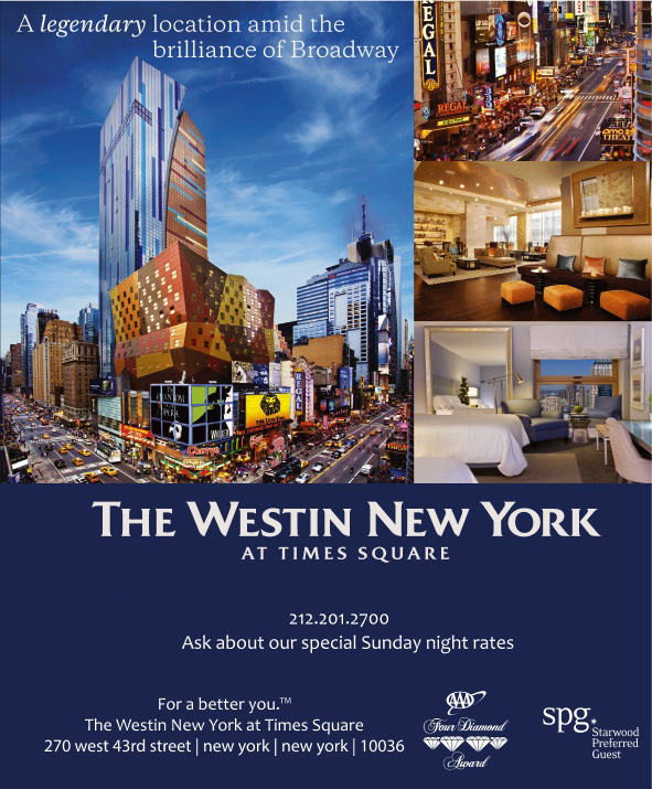 The westin new york at times square new york ny for Affordable furniture 43rd