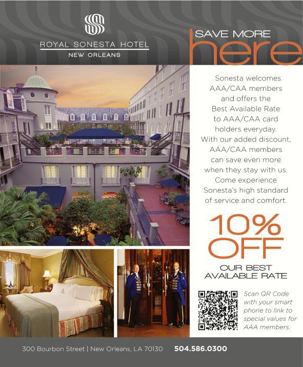 Royal sonesta hotel new orleans new orleans la for Garage ad orleans