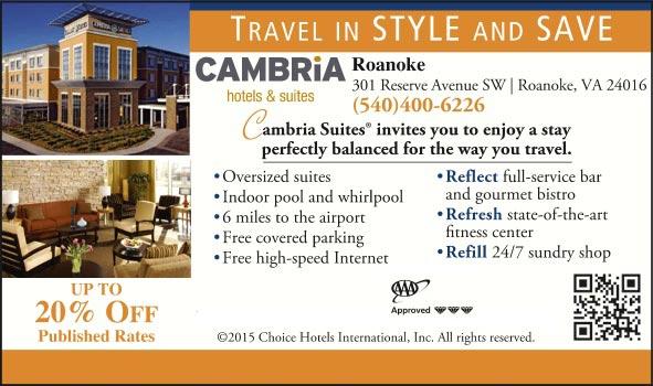 Cambria Hotel Amp Suites Roanoke Roanoke Va Aaa Com