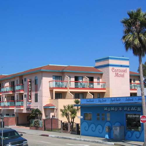 carousel beach inn santa cruz ca. Black Bedroom Furniture Sets. Home Design Ideas
