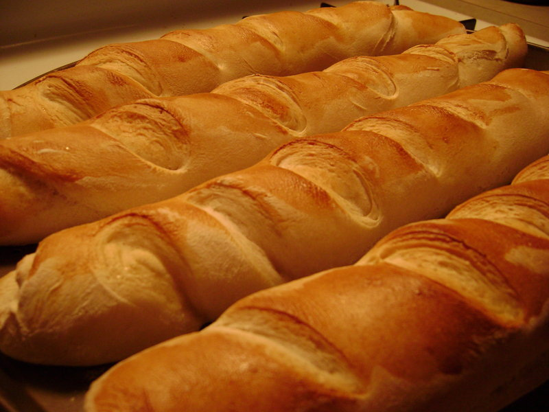 Baguettes, bread, French, golden