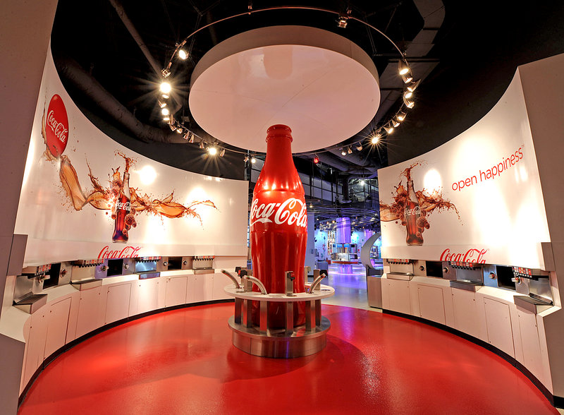 The World of Coca-Cola at Pemberton Place? celebrated its Grand Opening on May 24, 2007. It?s the only place where you can explore the fascinating story of Coca-Cola? - the world?s best-known beverage brand.  The World of Coca-Cola is the home of the 125-year-old secret formula for Coca-Cola and features more than 1,200 artifacts from around the world that, until now, have never been displayed to the public before.  Around every corner you?ll experience something new and inviting. You?ll see great interactive exhibits such as a thrilling, multi-sensory 4-D movie (3D glasses with moving seats) and a fully functioning bottling line. You can view more than 1,200 artifacts from around the world that, until now, have never been displayed to the public before. You can even give our 7-foot Coca-Cola Polar Bear a big hug! And of course, a World of Coca?Cola favorite?the tasting experience, will give you a refreshing opportunity to sample over 60 different beverages from around the world.  All this and much more make the World of Coca?Cola a unique and must-see Atlanta experience! A visit of the entire attraction is estimated to last an average of 2 hours.