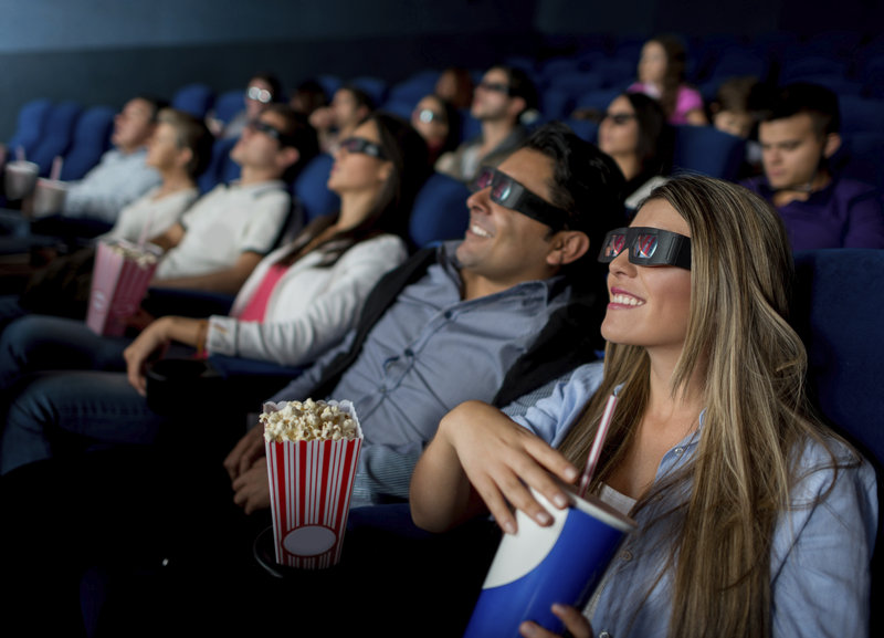 movie watchers, 3d glasses, theater