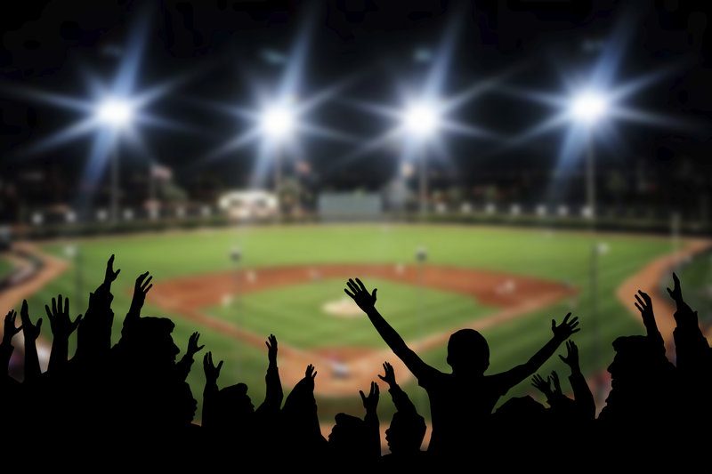 sport, stadium, spectator, spectator sport, baseball diamond, crowd, excitement, night, game, people, audience, competition, competitive sport, people, silhouette, generic, dtx