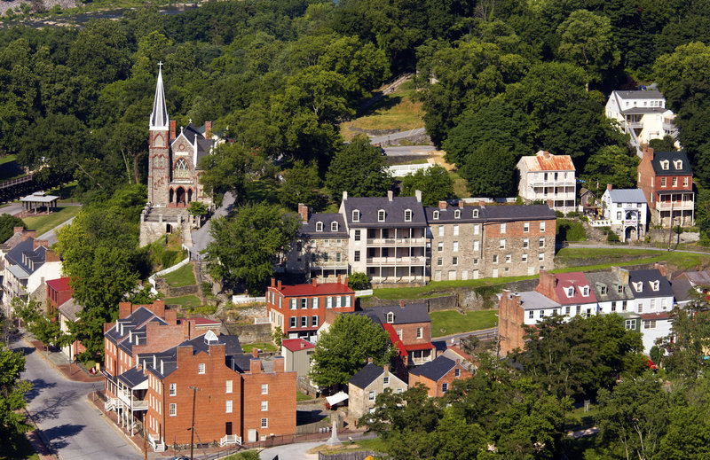 Harpers Ferry National Historical Park aerial view