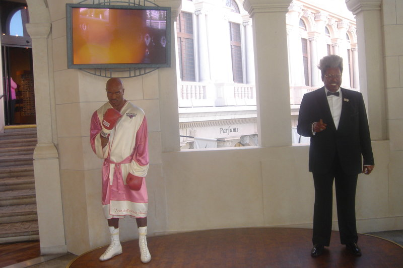 Las Vegas Strip - attractions, resorts, casinos, hotels: Madame Tussauds Las Vegas (Evander Hollifield, Don King)